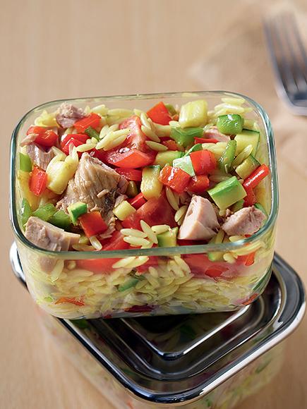 Κριθαράκι με ψιλοκομμένα λαχανικά και τόνο κονσέρβας #allazoumesinithies | ΑΒ Βασιλόπουλος